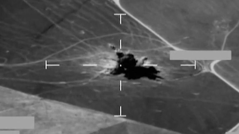 RAF airstrikes on IS targets in Iraq.