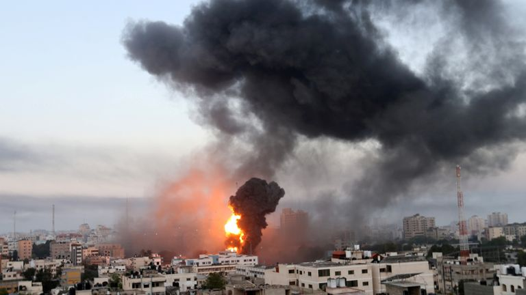 Israeli airstrikes rocked Gaza following a night of escalating hostility between Israel and Islamist group Hamas.