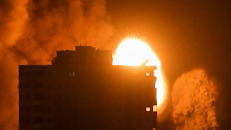 Israel said it was targeting 'high level commanders' of the Hamas militant group