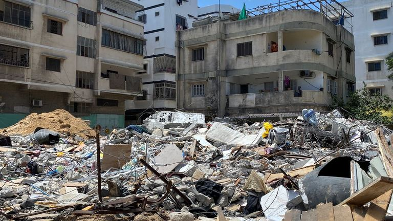 The Israeli military has admitted firing missiles at Al Wahda Street