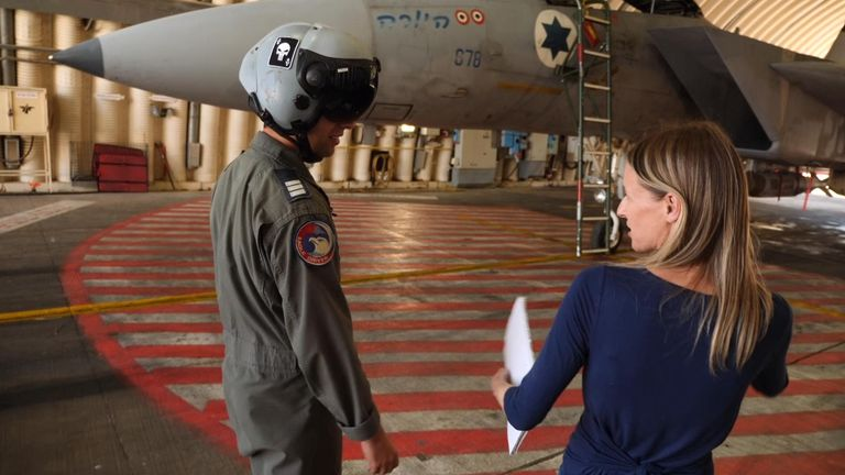 Captain B spoke to Sky News before the ceasefire was agreed