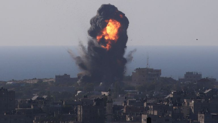 Israeli airstrikes in the southern Gaza Strip city of Rafah. Pic: CHINE NOUVELLE/SIPA/Shutterstock