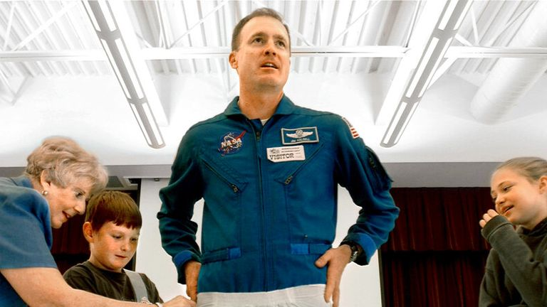 Halsell had completed five space missions. Pic: AP