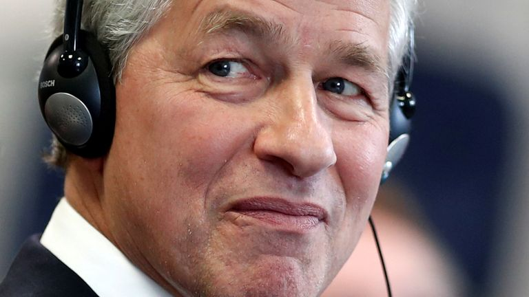 Jamie Dimon, CEO of JPMorgan Chase, attends the launching of the Advancing Cities Challenge, in Pantin, a suburb of Paris, France, November 6, 2018