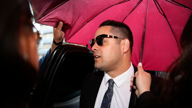 Hayne, 33, has been jailed for five years and nine months. Pic AP