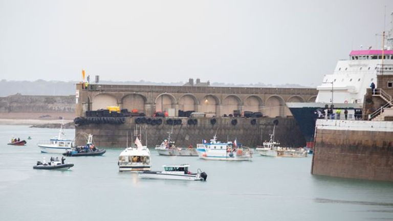 Jersey fishing row: Pic: Michael Bewley