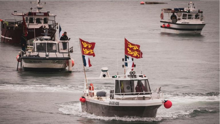 French vessels protest off Jersey. Pic: @PinelPhotos