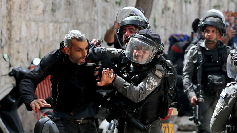 Monday's violence at the Al-Aqsa Mosque compound
