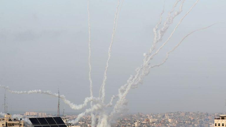 Israel said seven rockets from Gaza had set off sirens in Jerusalem