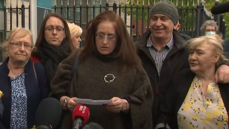 The McCann family outside court after the acquittal