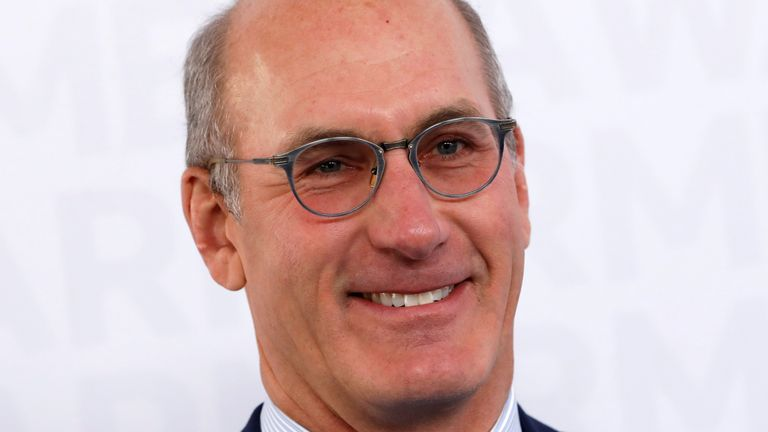 John Stankey, CEO of WarnerMedia poses as he arrives at the WarnerMedia Upfront event in New York City, New York, U.S., May 15, 2019