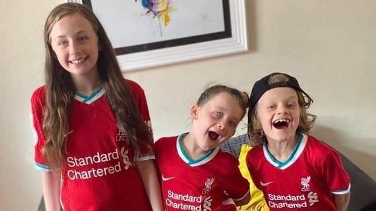 Jordan, 9, was a Liverpool fan and received a message from James Milner after raising £2,500 for charity. Pic Facebook