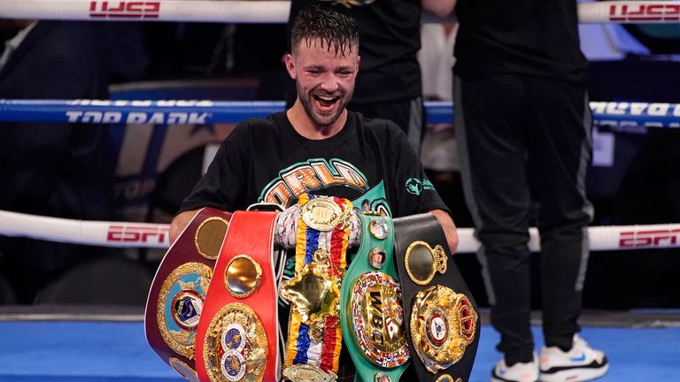 Josh Taylor made history by claiming all four super-lightweight belts