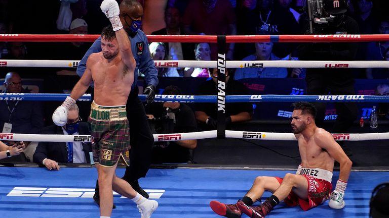 Taylor knocked Ramirez down twice