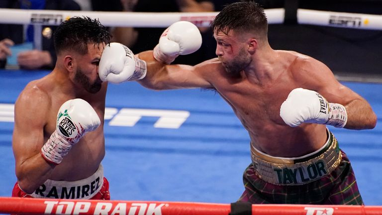 Ramirez gave Taylor a run for his money but the Scot caught him with a left hook in the sixth round