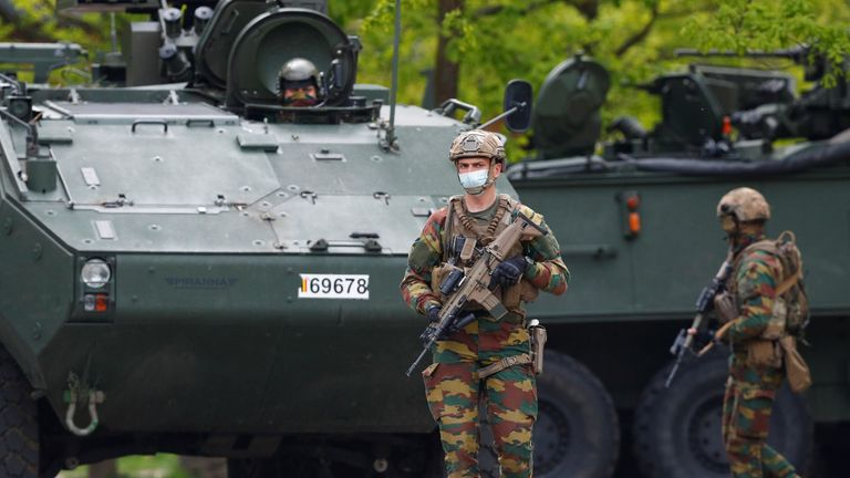 Armoured vehicles have been deployed in the search for Jurgen Conings