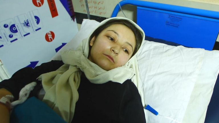 Arifa, 17, caught up in a car bomb outside her Sayed Al-Shuhada school in Kabul