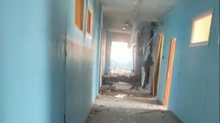 Interior of school in Kazan after shooting.