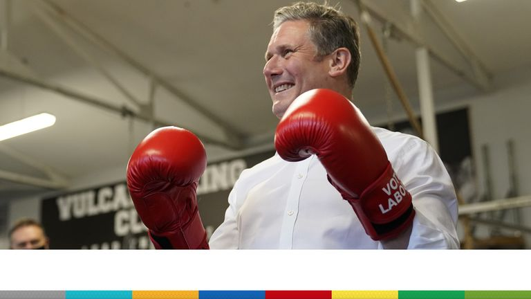 Labour leader Sir Keir Starmer hoped to land some political punches in the local election