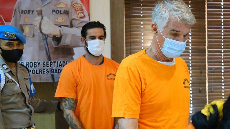 Kenneth Daniel Kutsch (R) and Italian Francesco D'Alesio. Pic: AP