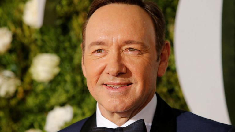 Kevin Spacey at the Tony Awards in 2017