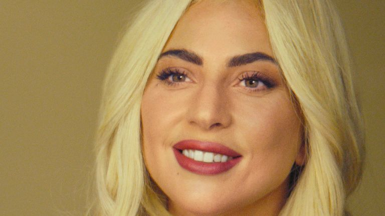 Lady Gaga has appeared in Prince Harry's mental health series on Apple TV+. Pic: Apple via AP