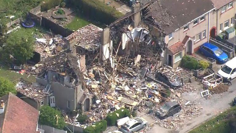 Gas explosion in Heysham, Lancashire