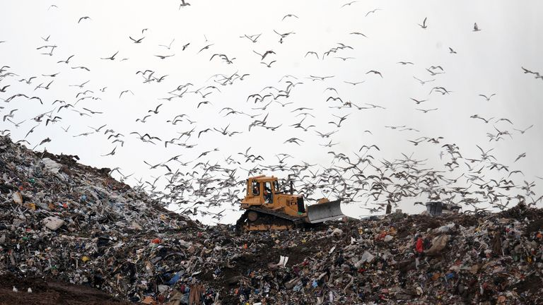 A landfill site in Hartlepool