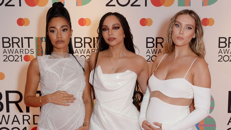 Little Mix at the Brit Awards. Pic: Richard Young/Shutterstock
