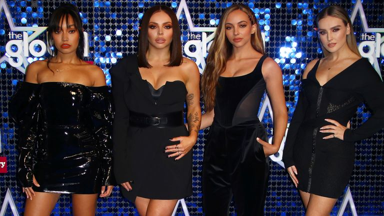 Little Mix stars Leigh-Anne Pinnock, Jesy Nelson, Jade Thirlwall, Perrie Edwards at the Global Gift Gala in London in 2019. Pic: AP