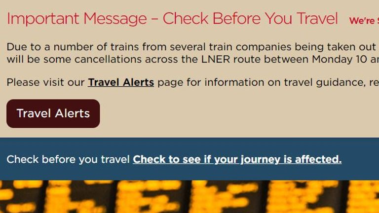 Passengers are being advised to use other services
