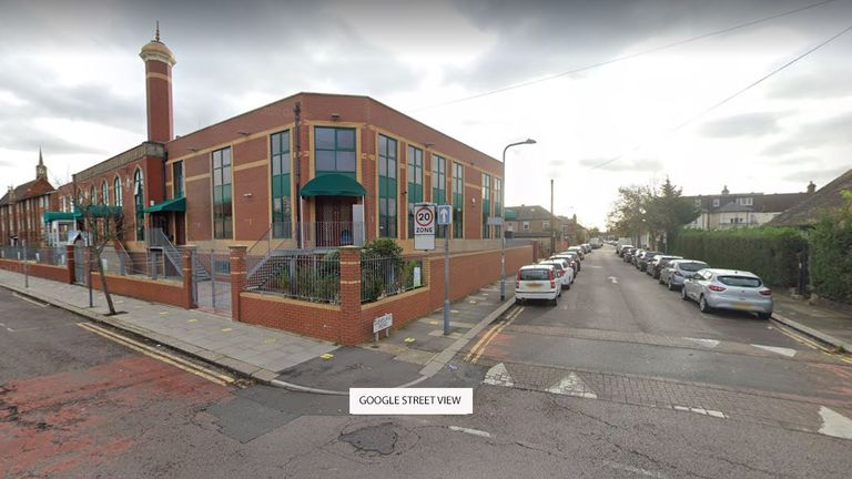 Police are investigating the attack outside the Ilford Islamic Centre in east London