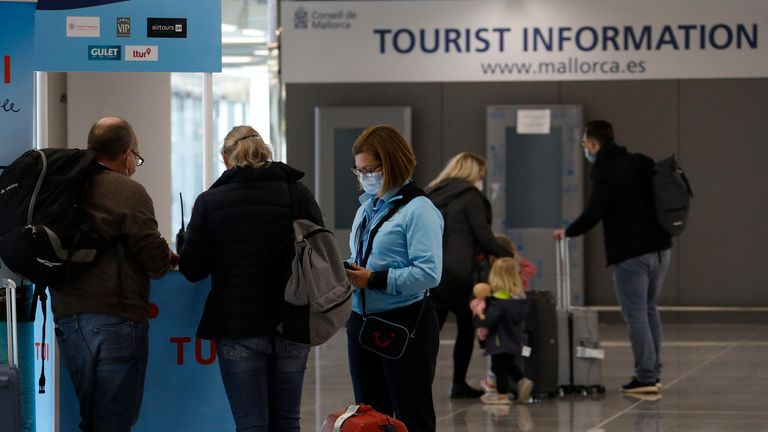 Passengers arriving at Mallorca airport in March