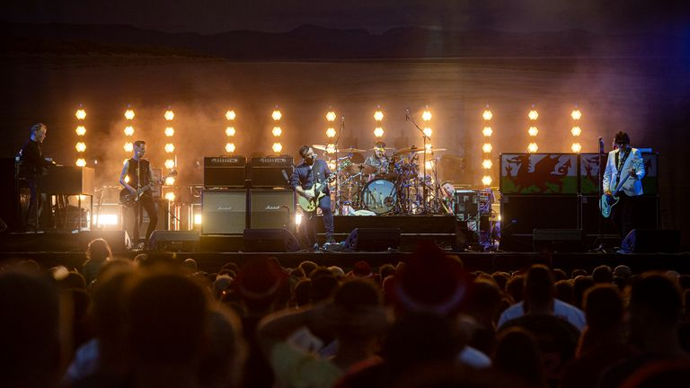 British music band Manic Street Preachers performs during the Rock for People festival in Hradec Kralove, Czech Republic, on July 6, 2019. Photo/David Tanecek (CTK via AP Images)