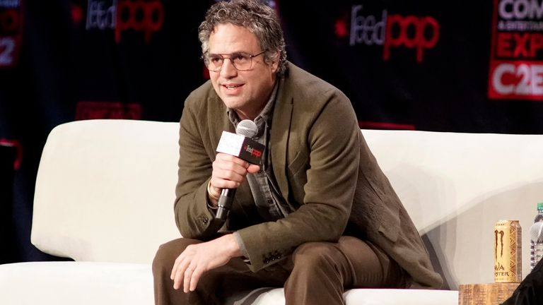 Mark Ruffalo has been forced to apologise over Twitter posts. Pic: Rob Grabowski/Invision/AP