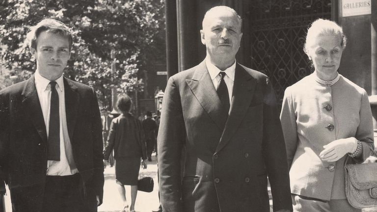 Sir Oswald And Lady Mosley And Son Max. Pic: Tom Braithwaite/ANL/Shutterstock