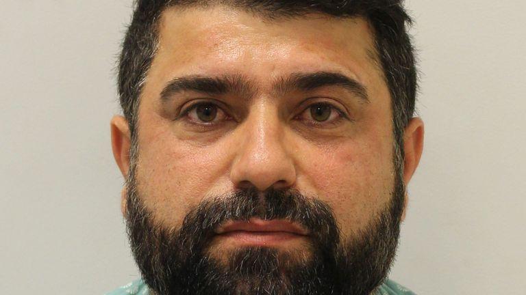 Serwan Ahmadi received a suspended prison sentence. Pic: Met Police