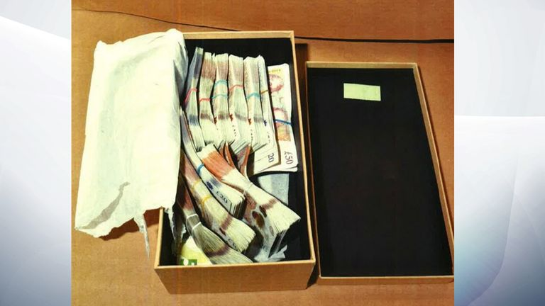 Police seized cash from Gherghel's property. Pic Met Police