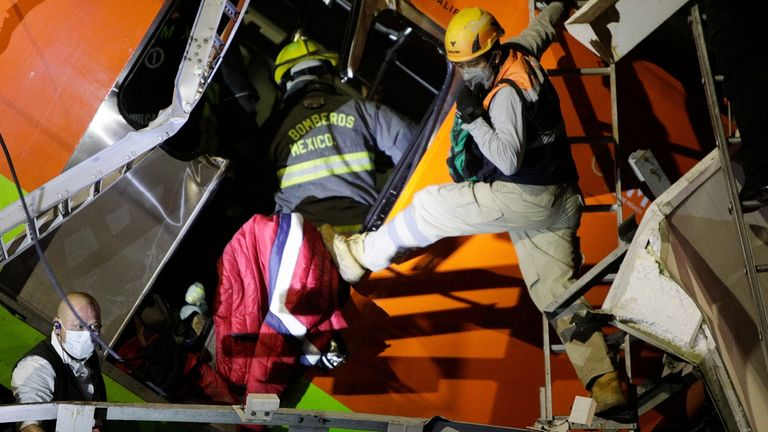 Children among victims as at least 23 killed in Mexico City overpass collapse