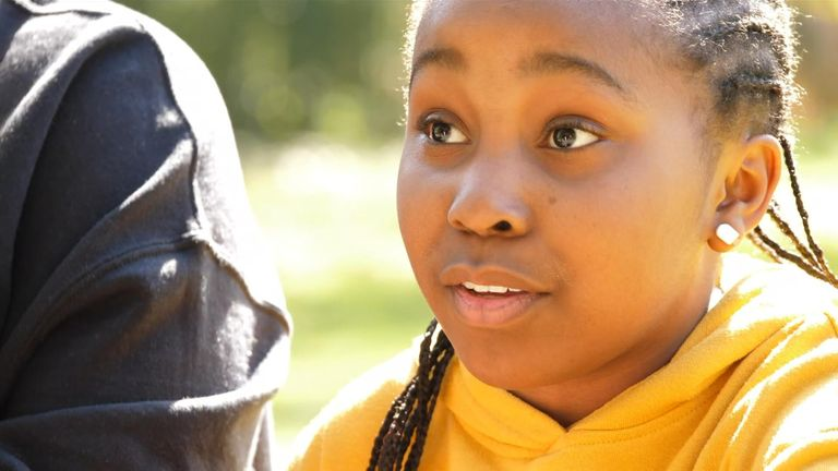 Miai Phillip, 11, suffers from sickle cell and is raising awareness of the disease