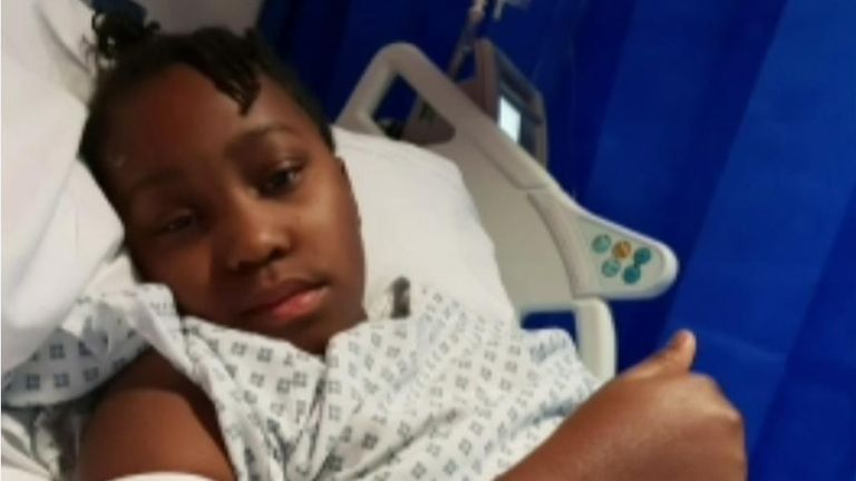 Sickle cell sufferer Miai Phillip, 11, says more support is needed for people with the disease