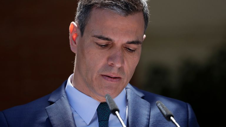 "Spain's Prime Minister Pedro Sanchez described the influx of migrants as a ""serious crisis"". Pic AP"