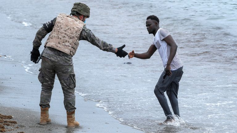 The military has been detaining migrants