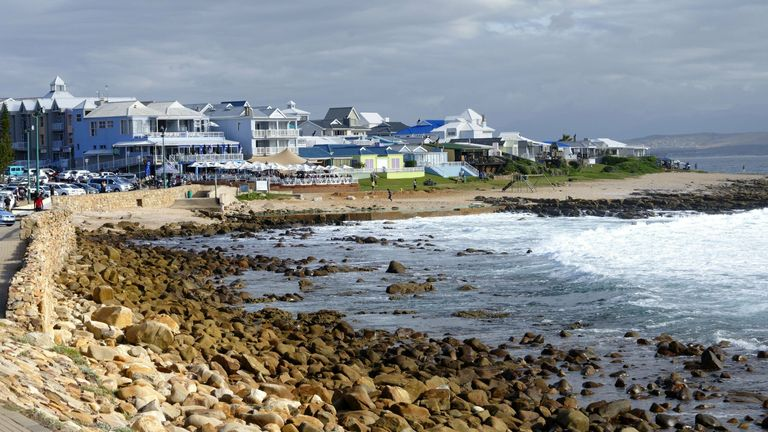 Mossel Bay foreshore, Western Cape, South Africa. Pic: AP