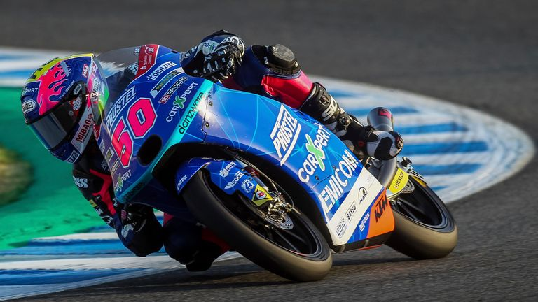 Swiss driver Jason Dupasquier, pictured here at the Spanish GP in July 2020, joined the circuit last year. Pic AP