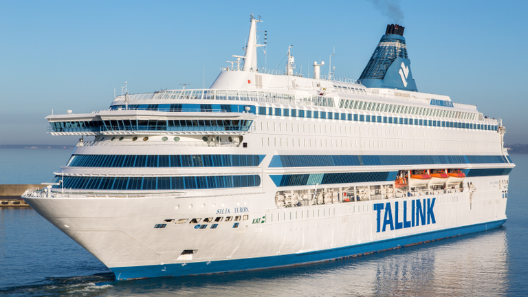 The MS Silija Europe cruise ship which will provide accommodation for around 1,000 police officers being drafted in to protect the G7 summit in Cornwall. Pic: Marko Stampehl, AS Tallink Group