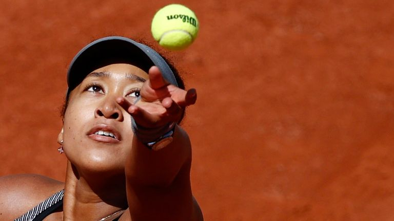 Osaka skipped the news conference after her first-round victory at Roland Garros