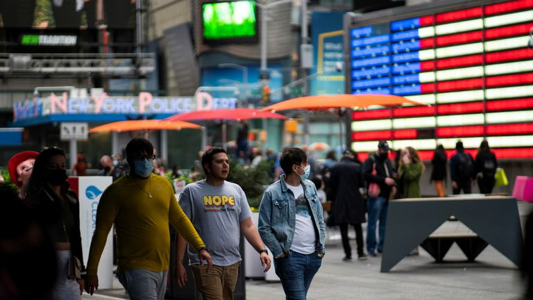 Masks will no longer be required for fully vaccinated people in crowded outdoor places and most indoor places
