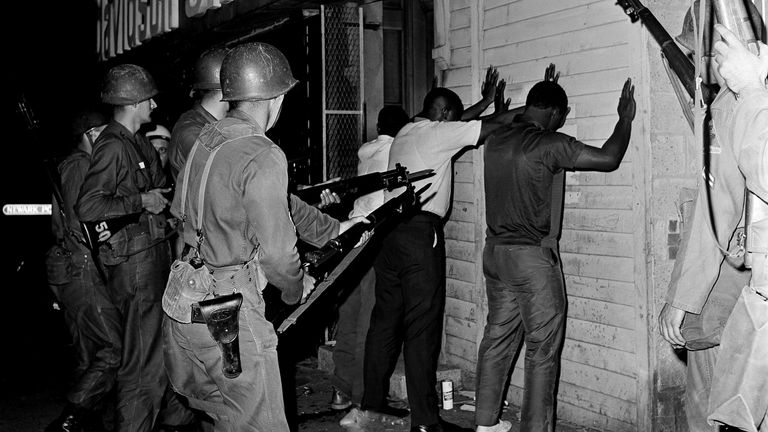 Some 26 people died in the riots in Newark in the 1960s. Pic: Associated Press