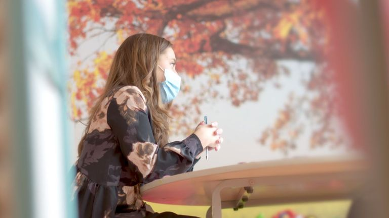 Mental health nurse Nicole Renshaw during an assessment